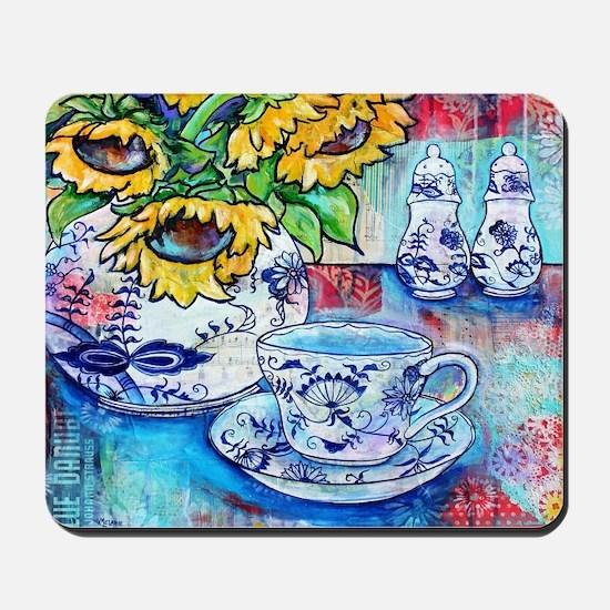 Blue Danube & Sunflowers Mousepad