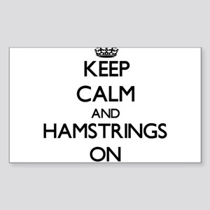 Keep Calm and Hamstrings ON Sticker