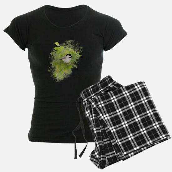 Cute Chickadee Bird in Poplar Tree pajamas
