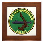 USS HAMMERHEAD Framed Tile