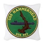 USS HAMMERHEAD Woven Throw Pillow