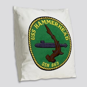 USS HAMMERHEAD Burlap Throw Pillow