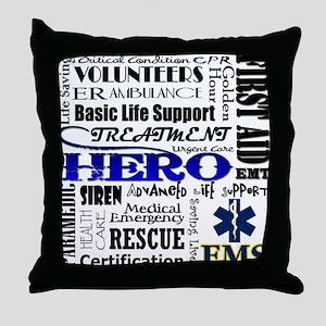 EMT Hero Subway Art Throw Pillow