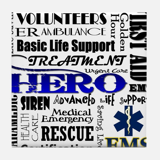 EMT Hero Subway Art Tile Coaster