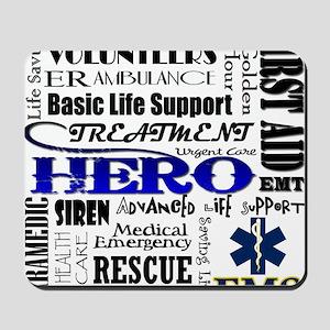EMT Hero Subway Art Mousepad