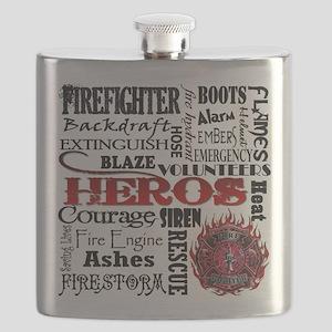 Firefighter Hero Subway  Flask