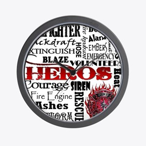 Firefighter Hero Subway  Wall Clock