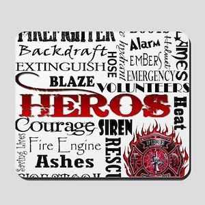 Firefighter Hero Subway  Mousepad