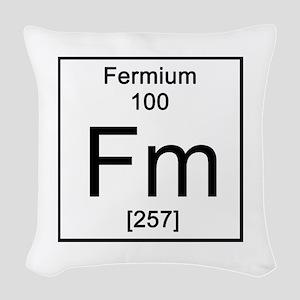 100. Fermium Woven Throw Pillow