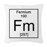 100. Fermium Woven Throw Pillow