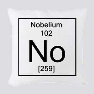102. Nobelium Woven Throw Pillow