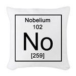 102. Nobelium Woven Throw Pillow
