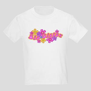 Hip Flowers Big Sister Pink Kids Light T-Shirt