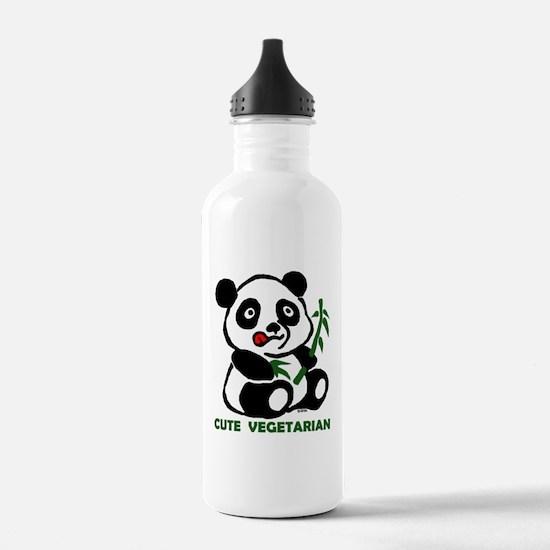 cute vegetarian Water Bottle