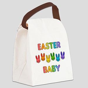 Easter Baby - Rainbow Bunnies Canvas Lunch Bag