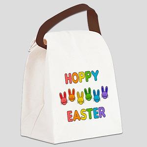 Hoppy Easter - Rainbow Bunnies Canvas Lunch Bag