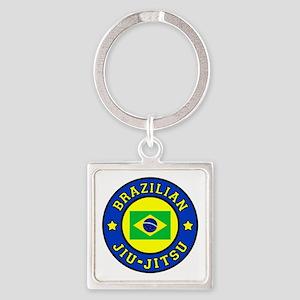 Brazilian Jiu-Jitsu Square Keychain