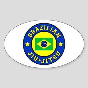 Brazilian Jiu-Jitsu Sticker (Oval)