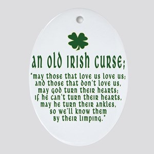 An Old irish curse Oval Ornament