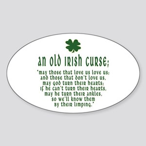 An Old irish curse Oval Sticker