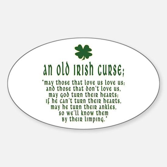 An Old irish curse Oval Decal