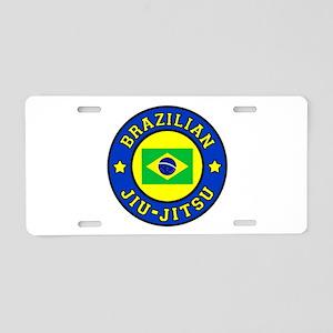 Brazilian Jiu-Jitsu Aluminum License Plate