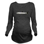 Ladyfish Long Sleeve Maternity T-Shirt