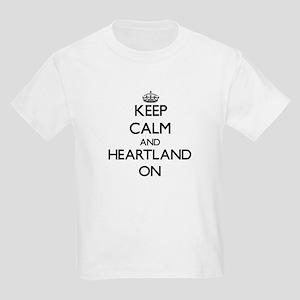 Keep Calm and Heartland Women's Cap Sleeve T-Shirt