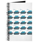 Cruise Ship Tug Boat Blue Red Journal