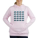Cruise Ship Tug Boat Blue Red Women's Hooded Sweat
