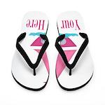Pink Sailboat Personalizable Flip Flops