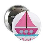Pink Sailboat Personalizable 2.25