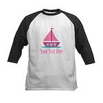 Pink Sailboat Personalizable Baseball Jersey
