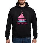 Pink Sailboat Personalizable Hoodie
