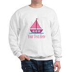 Pink Sailboat Personalizable Sweatshirt