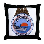 USS HAMNER Throw Pillow
