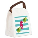 Sea Turtles Seahorse Canvas Lunch Bag