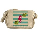 Sea Turtles Seahorse Messenger Bag