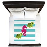 Sea Turtles Seahorse King Duvet