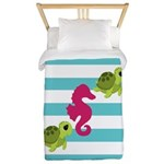 Sea Turtles Seahorse Twin Duvet