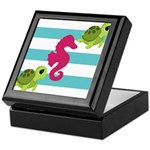 Sea Turtles Seahorse Keepsake Box