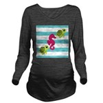 Sea Turtles Seahorse Long Sleeve Maternity T-Shirt