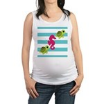 Sea Turtles Seahorse Maternity Tank Top