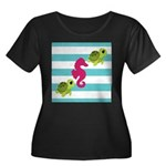 Sea Turtles Seahorse Plus Size T-Shirt