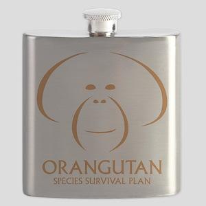 Orangutan Ssp Logo Flask (orange Logo)