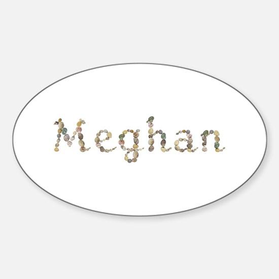 Meghan Seashells Oval Decal
