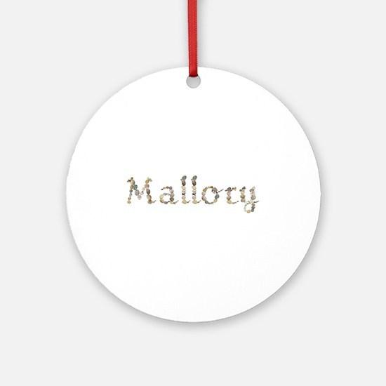 Mallory Seashells Round Ornament