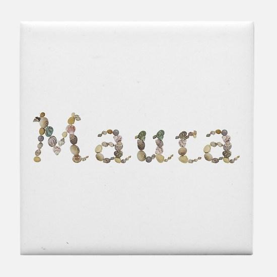 Maura Seashells Tile Coaster