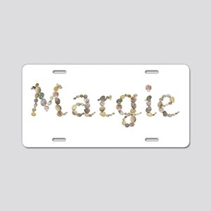 Margie Seashells Aluminum License Plate