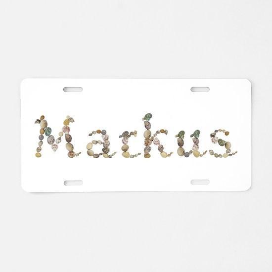 Markus Seashells Aluminum License Plate